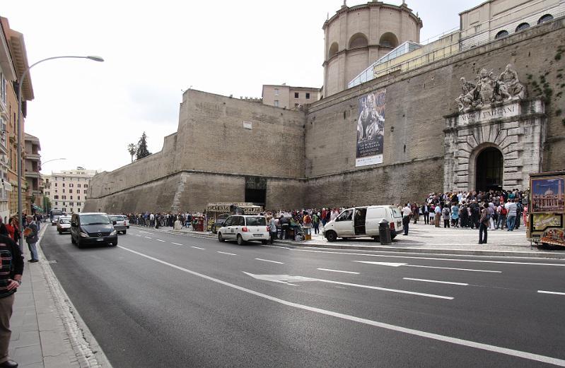 Vakantie in rome ingang vaticaans museum - Muur van de ingang ...